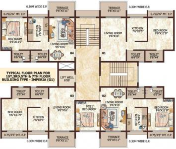 Project Image of 356 - 575 Sq.ft 1 BHK Apartment for buy in Tharwani Ariana Phase II