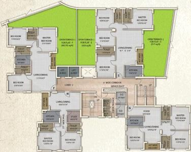 Gallery Cover Image of 1670 Sq.ft 3 BHK Apartment for buy in Oswal Orchard County, Belghoria for 6400000