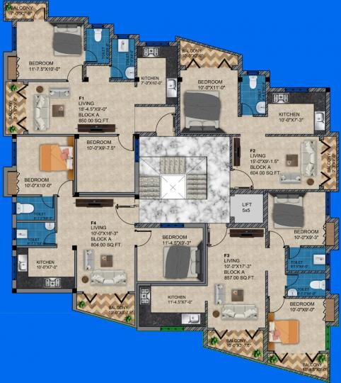 Project Image of 604.0 - 1005.0 Sq.ft 1 BHK Apartment for buy in SI Aishwaryam