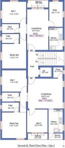 Gallery Cover Image of 1016 Sq.ft 3 BHK Apartment for buy in Sri Agathiya Flats, Medavakkam for 6096000