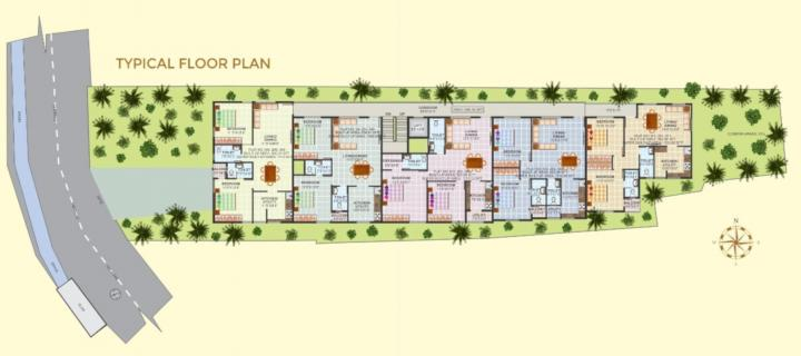 Project Image of 1088.0 - 1170.0 Sq.ft 2 BHK Apartment for buy in Tejashree Sapthagiri Nilayamu