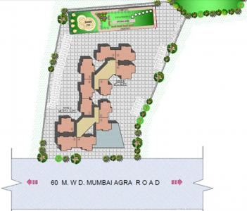 Project Image of 605 - 655 Sq.ft 2 BHK Apartment for buy in Cosmos Habitate A Wing