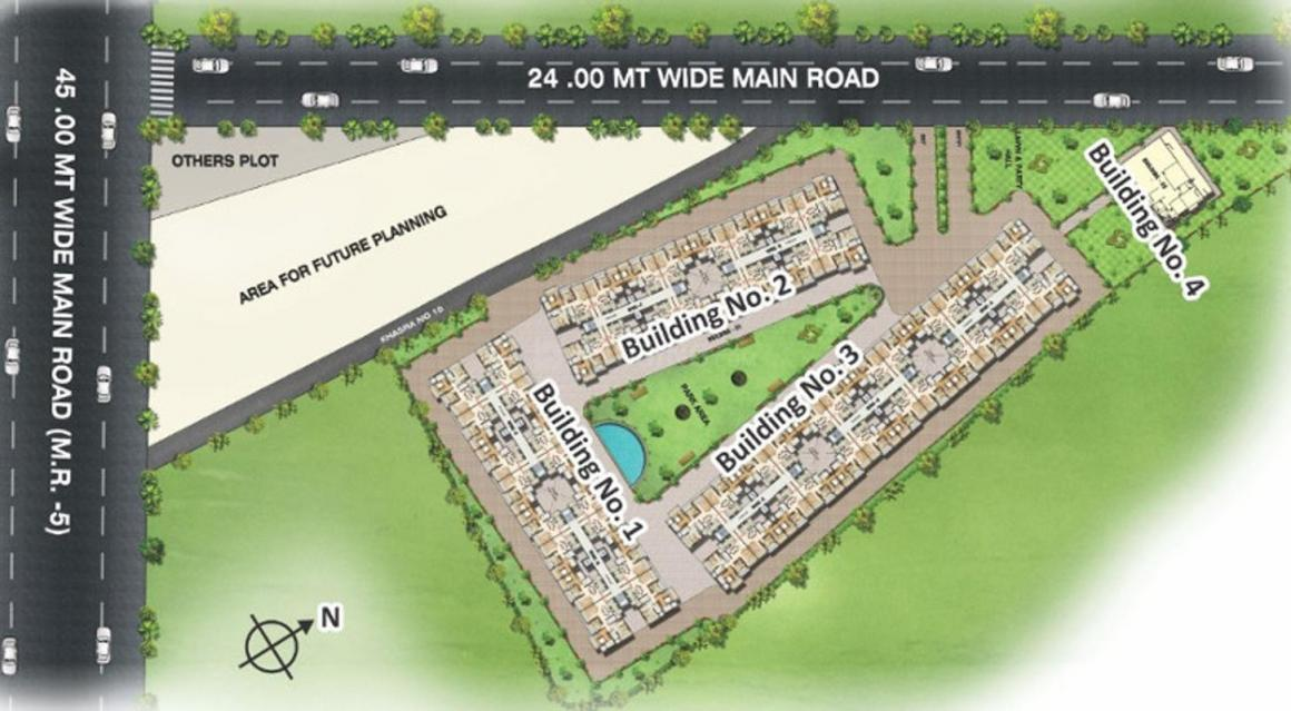 Project Image of 1300.0 - 1750.0 Sq.ft 2 BHK Apartment for buy in Laabham Shubham Nariman Enclave Building No 1