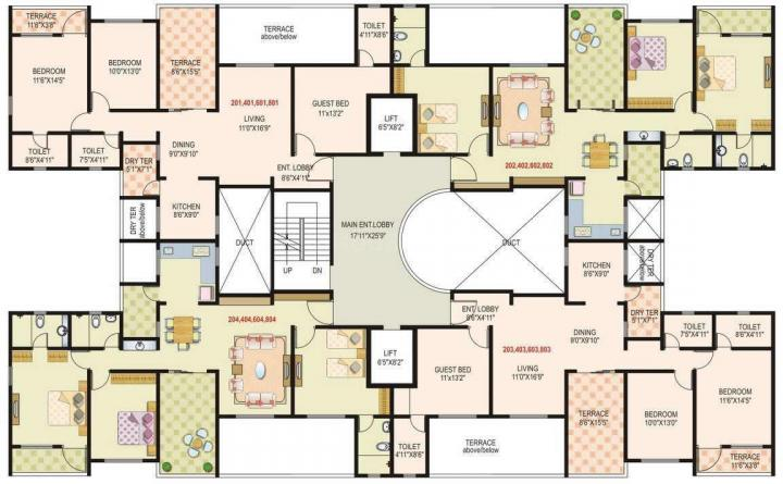 Project Image of 1085 - 1432 Sq.ft 2 BHK Apartment for buy in Mont Vert Belrose