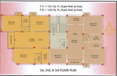 Project Image of 1240 - 1325 Sq.ft 3 BHK Apartment for buy in Jeet Balaji Twins