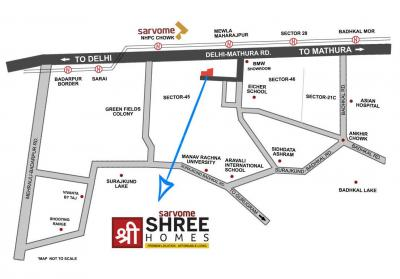 Gallery Cover Image of 745 Sq.ft 2 BHK Apartment for buy in Sarvome Shree Homes, Sector 45 for 2800000