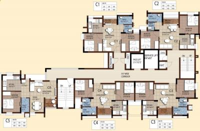 Gallery Cover Image of 708 Sq.ft 2 BHK Apartment for buy in Akshaya Tango Compact Homes, Thoraipakkam for 6200000