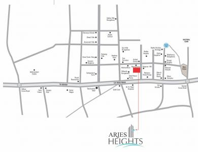 Project Image of 616.99 - 619.68 Sq.ft 2 BHK Apartment for buy in Gayatri Aries Heights
