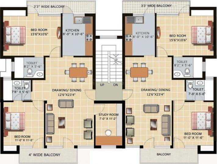 Project Image of 450.0 - 900.0 Sq.ft 1 BHK Apartment for buy in Royal India Vishwansh Homes
