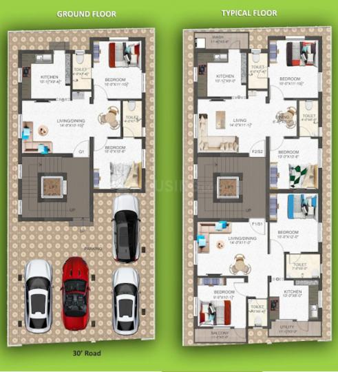 Project Image of 875.0 - 900.0 Sq.ft 2 BHK Apartment for buy in GK Blossom