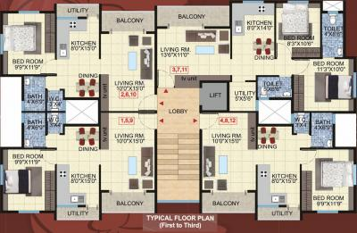 Project Image of 407 - 520 Sq.ft 1 BHK Apartment for buy in Kanaklaxmi Carnation