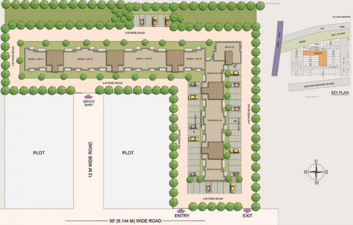 Project Image of 1905.0 - 2060.0 Sq.ft 3 BHK Apartment for buy in Swatantra Indraprastha Apartments II