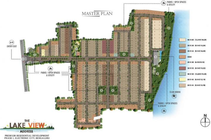 Project Image of 1500.0 - 2400.0 Sq.ft Residential Plot Plot for buy in Indiabuild The Lake View Address Phase 3