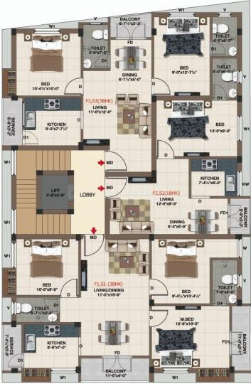 Project Image of 516.0 - 1060.0 Sq.ft 1 BHK Apartment for buy in Darshit Pearl