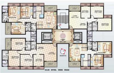 Gallery Cover Image of 1000 Sq.ft 2 BHK Apartment for rent in Sai Manomay Apartments, Kharghar for 28000