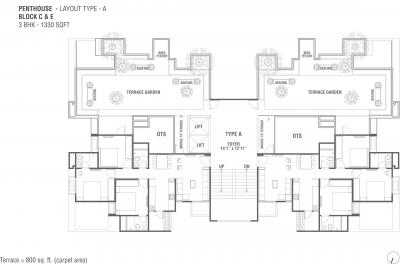 Project Image of 0 - 1330 Sq.ft 3 BHK Apartment for buy in Sun South Park