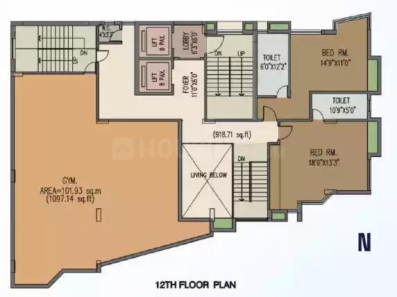 Project Image of 0 - 3219.0 Sq.ft 4 BHK Apartment for buy in Gurukul Grandeur