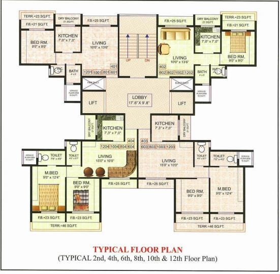 Project Image of 615.0 - 880.0 Sq.ft 1 BHK Apartment for buy in Shree Ramtanu Dynaneshwari