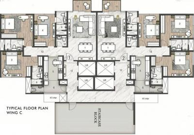 Project Image of 1258.0 - 1862.0 Sq.ft 3 BHK Apartment for buy in Rustomjee Paramount Wing C