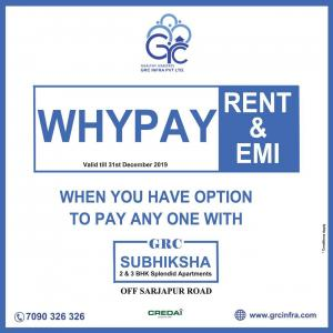 Gallery Cover Image of 1090 Sq.ft 2 BHK Apartment for buy in GRC Subhiksha, Kasavanahalli for 4900000