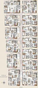 Gallery Cover Image of 1200 Sq.ft 3 BHK Apartment for rent in Shubham Blooms, Serilingampally for 24000