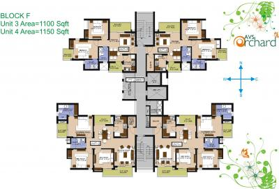 Project Image of 995 - 4200 Sq.ft 2 BHK Apartment for buy in AVP AVS Orchard