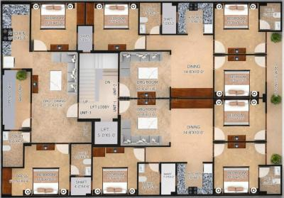 Gallery Cover Image of 904 Sq.ft 2 BHK Independent Floor for buy in SSG Yash Apartment 3, Sector 8 for 4800000