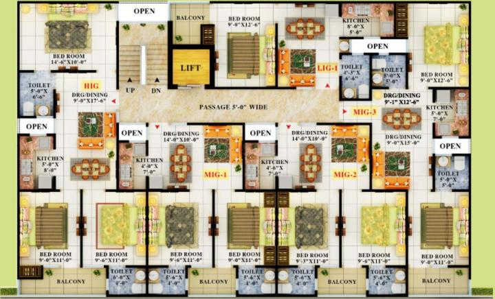 Project Image of 550.0 - 1250.0 Sq.ft 1 BHK Apartment for buy in APS Crystal Homes