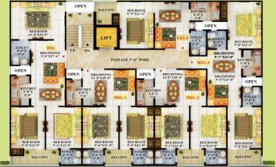 एपीएस क्रिस्टल होम्स में खरीदने के लिए 550 - 1250 Sq.ft 1 BHK अपार्टमेंट प्रोजेक्ट  की तस्वीर