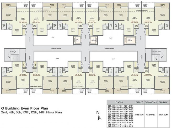 Project Image of 0 - 1000.0 Sq.ft 2 BHK Apartment for buy in Kolte Patil Three Jweles