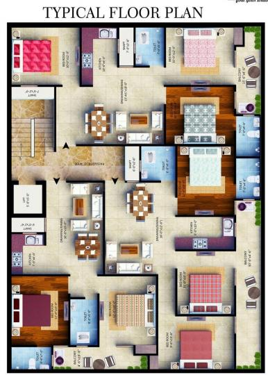 Project Image of 850.0 - 1300.0 Sq.ft 2 BHK Apartment for buy in Belpatram Gold Tower