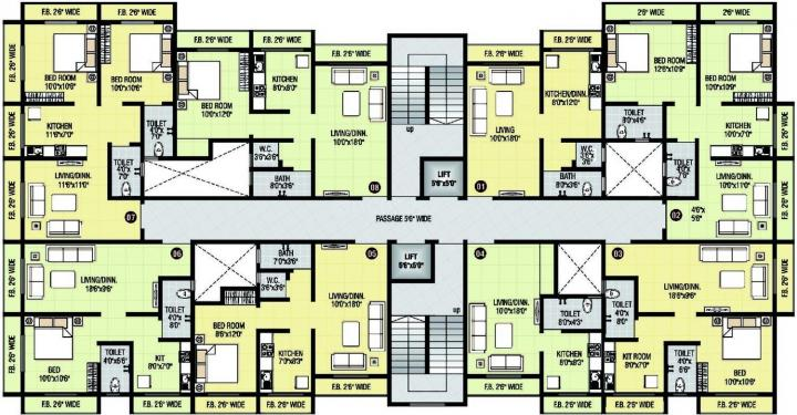 Project Image of 291.06 - 572.86 Sq.ft 1 RK Apartment for buy in Shri Parrsssva Classic Apartment