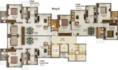 Project Image of 744 - 1361 Sq.ft 2 BHK Apartment for buy in MICL Aaradhya Tower
