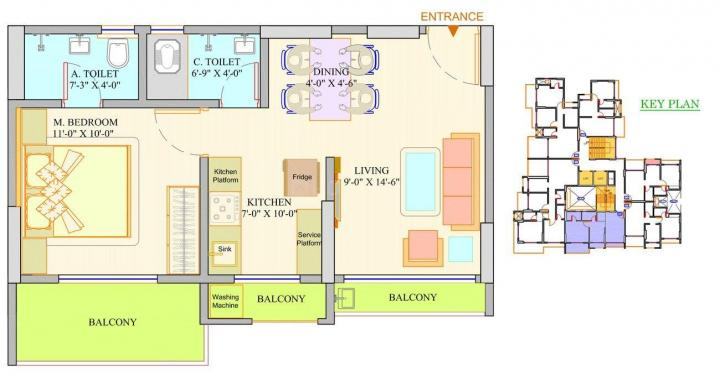 Project Image of 434.0 - 949.0 Sq.ft 1 BHK Apartment for buy in Dange Crown A Wing