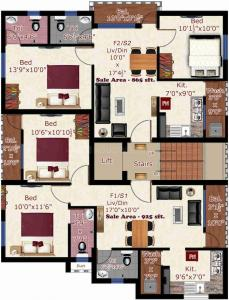 Gallery Cover Image of 925 Sq.ft 2 BHK Apartment for buy in GK Mayfair, Pammal for 4900000