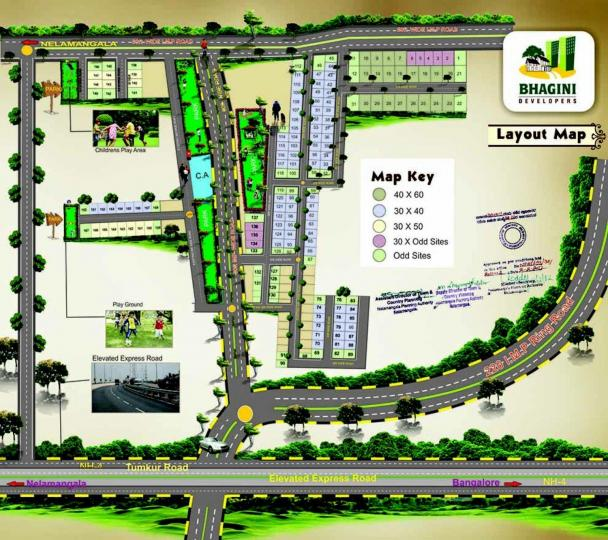 Project Image of 1200.0 - 2400.0 Sq.ft Residential Plot Plot for buy in Bhagini Udaya Ravi Enclave