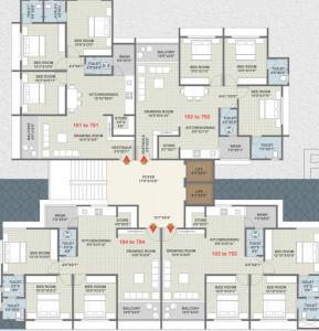 Project Image of 822.47 - 875.43 Sq.ft 3 BHK Apartment for buy in Upasana Tirupati Residency