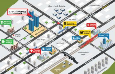 वीणा स्मार्ट होम्स में खरीदने के लिए 382.0 - 601.0 Sq.ft 1 BHK अपार्टमेंट प्रोजेक्ट  की तस्वीर
