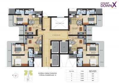 काउंटडाउन एक्स में खरीदने के लिए 344.02 - 462.96 Sq.ft 1 BHK अपार्टमेंट प्रोजेक्ट  की तस्वीर