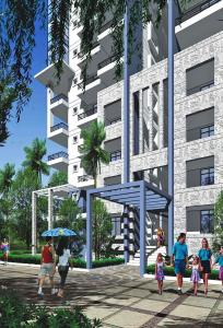 Gallery Cover Image of 1225 Sq.ft 3 BHK Apartment for rent in Janapriya Nile Valley, Miyapur for 14000