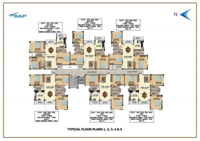 Project Image of 1317.0 - 1336.0 Sq.ft 3 BHK Apartment for buy in S And P Adornia