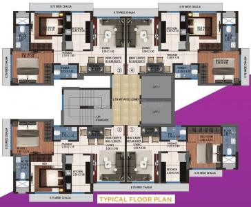 आदिनाथ औरिगाए रेसिडेंसी डी विंग में खरीदने के लिए 483.0 - 620.0 Sq.ft 1 BHK अपार्टमेंट प्रोजेक्ट  की तस्वीर