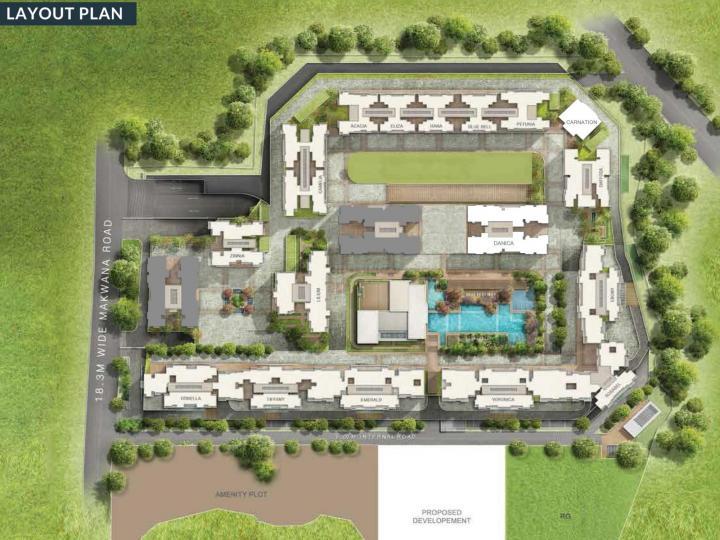 Project Image of 1445.0 - 2152.0 Sq.ft 3 BHK Apartment for buy in Sheth Creators Vasant Oasis Lillium Bldg 16