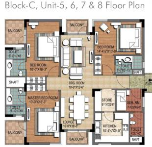 Gallery Cover Image of 1952 Sq.ft 3 BHK Apartment for buy in Ninex City by Ninex Builders, Sector 76 for 9500000