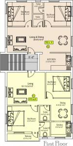 Project Image of 430 - 876 Sq.ft 1 BHK Apartment for buy in Sekaran Studio 6 Apartment