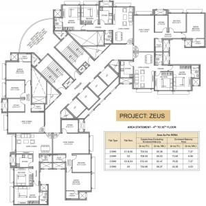 Project Image of 0 - 704 Sq.ft 2 BHK Apartment for buy in Hiranandani Zeus