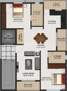 Project Image of 0 - 1050 Sq.ft 2 BHK Apartment for buy in Aspire Spandana
