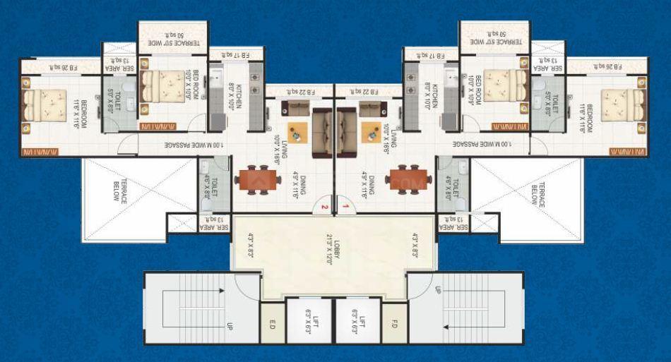 Aashlesha 2BHK Floor Plan.JPG