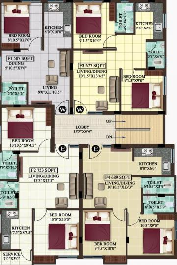Project Image of 507.0 - 826.0 Sq.ft 1 BHK Apartment for buy in MP Hana