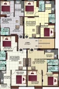 एमपी हाना में खरीदने के लिए 507 - 826 Sq.ft 1 BHK अपार्टमेंट प्रोजेक्ट  की तस्वीर